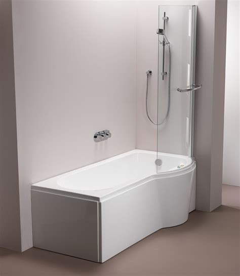 Bathroom Shower Bath Pura Bathrooms Arco Showerbath Bathroomand Co Uk