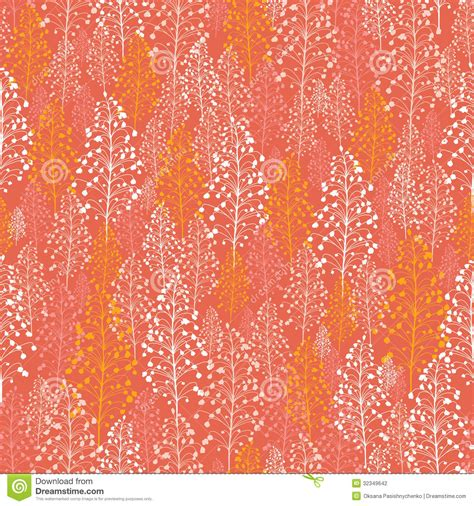 abstract pattern orange abstract orange plants seamless pattern background stock