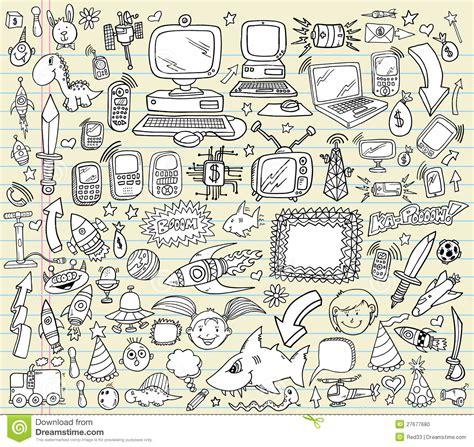 free doodle design elements doodle design elements vector set stock photo image