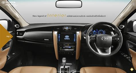 suv toyota inside 2016 toyota fortuner interior revealed for market