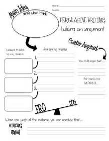 Argumentative Essay Graphic Organizer by Language Arts Writing And Activities Mrs
