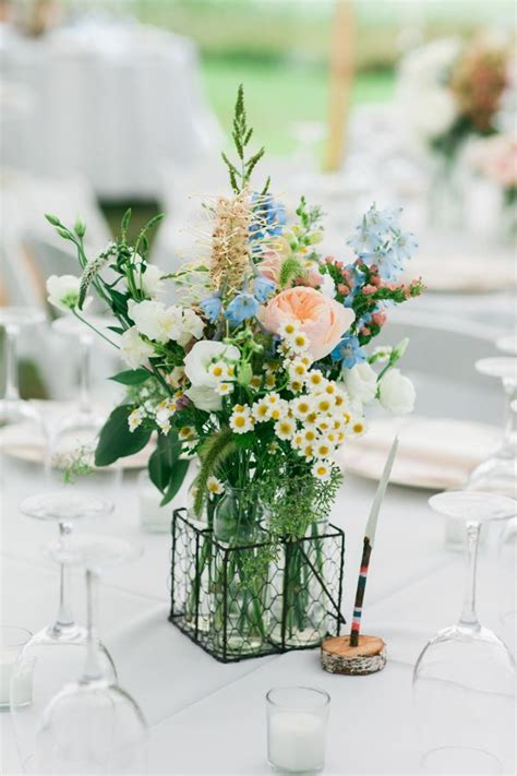 Flower Wedding Table Centerpieces by Purple Wildflower Centerpieces Www Pixshark Images