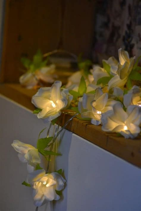 new 20 ivory led battery flower string