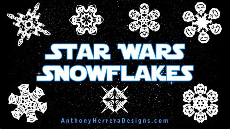 new the force awakens star wars snowflake templates