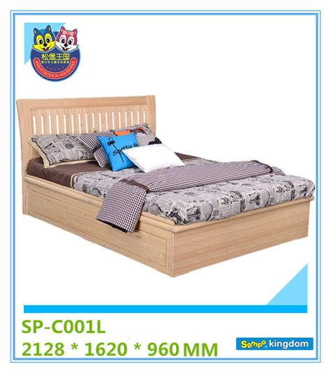 King Single Bed Frame With Storage Size Solid Wooden Single Beds King Size Bed
