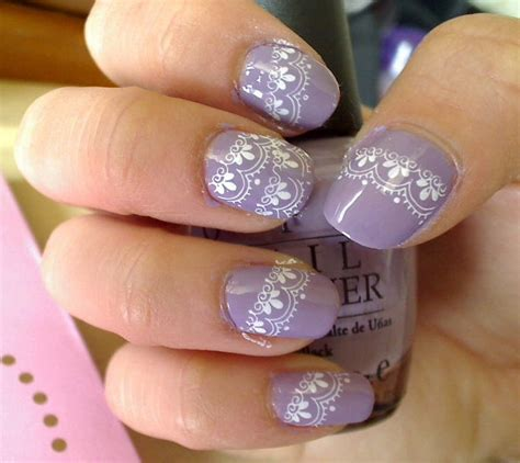 lace pattern on nails lace nail art designs