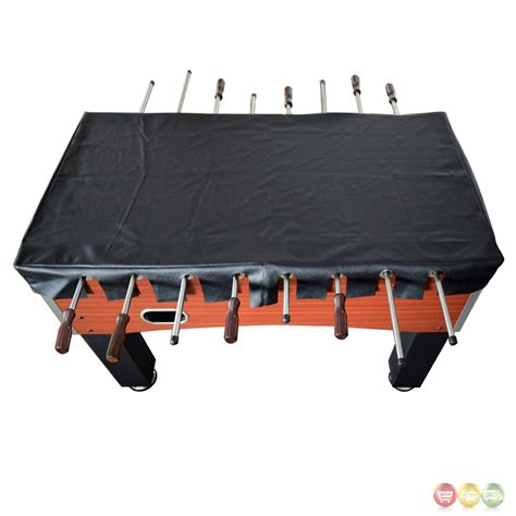 Foosball Table Cover by Foosball 56 In Table Top Cover In Black Faux Leather