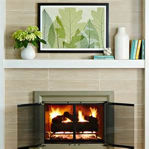 Fireplace Tiles Easy Fireplace Mantel Makeover Brick To Tile Design