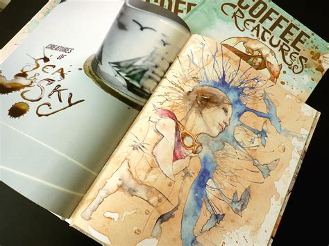 coffee creatures book the coffee and watercolor paintings of vrosh on storenvy