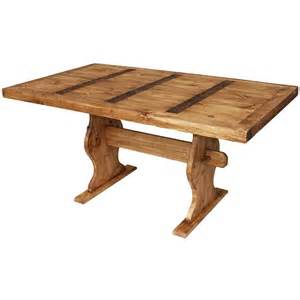 Dining Table Trestle Rustic Pine Collection Trestle Dining Table Mes01