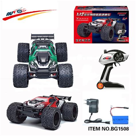 Rc Big Foot 4wd Max 1 12 Remote Mainan Anak Laki Laki high speed 1 12 scale 2 4g rtr remote truck road car big foot rc 4wd buggy