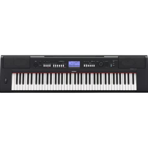 Keyboard Yamaha Npv 60 Yamaha Piaggero Npv60 Portable Keyboard Black At