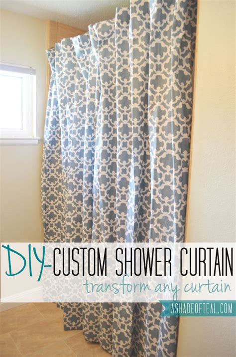 make shower curtain making an extra long shower curtain from any curtain a