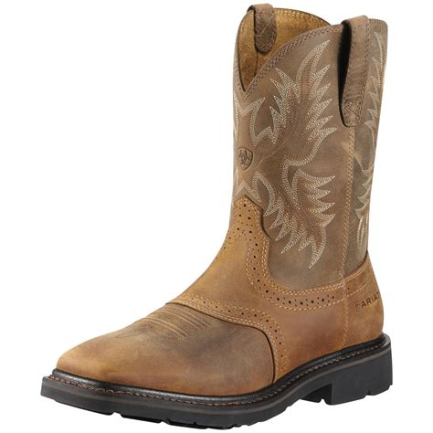 mens steel toe cowboy boots s ariat 174 10 quot wide square steel toe cowboy boots