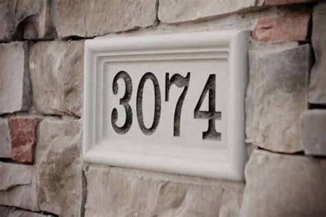 Landscape Rock House Number Vizablock Custom Engraving