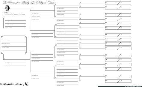 printable family tree 6 generations family trees ginaology com