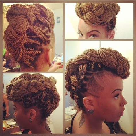 ways to style box braids with faded sides 17 best images about box braids on pinterest protective