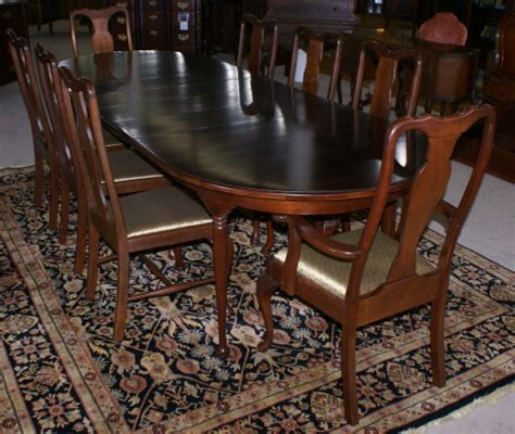Queen Anne Dining Room Chairs by Modern Solid Cherry Queen Anne Table And 8 Dining Room Chairs