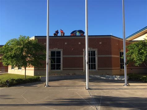 bisd principal and c out on school s roof