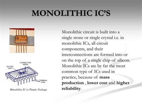 what are monolithic integrated circuit ppt integrated circuits powerpoint presentation id 1460515