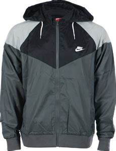 Jaket Parasut Nike Jaket Windbreaker Windrunner Grey Black 1 nike heritage windrunner jacket grey black