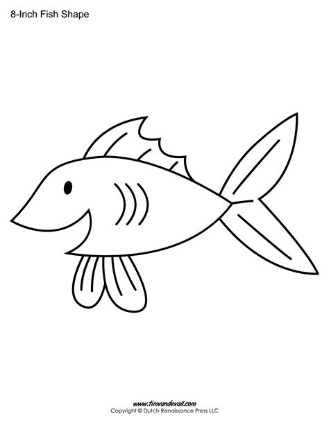 free printable fish templates printable fish templates for preschool fish shapes