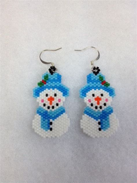 patterns christmas jewelry christmas earrings patterns brick stitch earrings