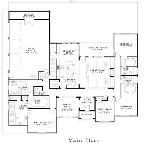house plans with garage in back house plan 82163 at familyhomeplans
