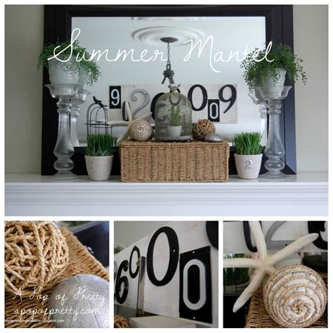home decor on summer mantel collage summer a pop of pretty blog canadian