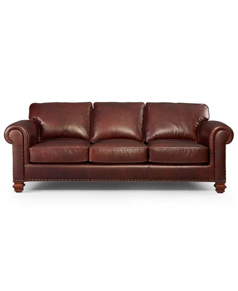 macys ii leather sofa 10 photos macys leather sofas