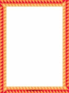 orange diamonds border