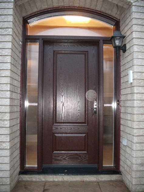 Fiberglass Doors Front Entry Doors Wood Grain Fiberglass Single Exterior Door