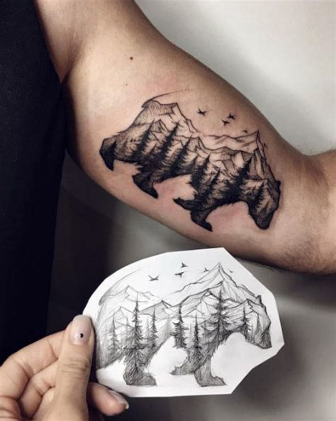 tattoo with animal 40 creative unique landscape animal tattoo designs