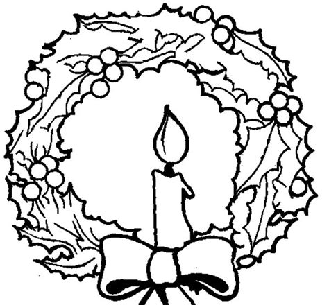 christmas tree with candles coloring page christmas wreath coloring page free coloring pages on