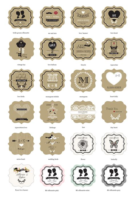 design labels for jars wholesale wedding favors party favors by event blossom