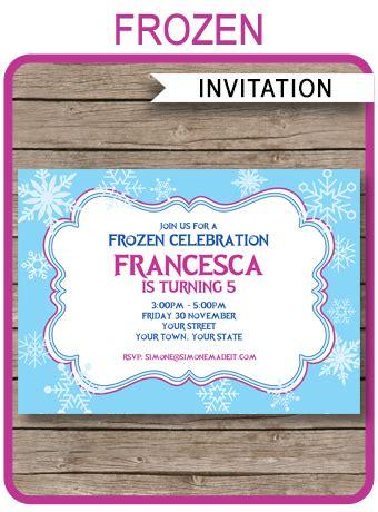 frozen invitation template diy editable frozen invitations