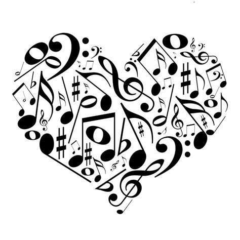 imagenes de notas musicales en forma de corazon fototapeta serce z nut miłość do muzyki pixers