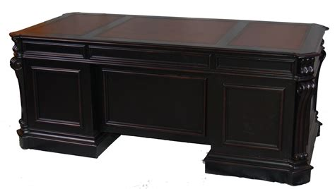Black Executive Desks alchemist large black executive office desk