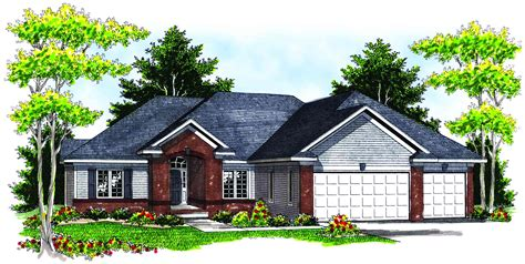 hipped roof house plans brick detailing and hip roof lines 89039ah