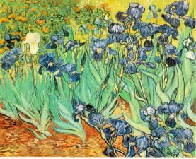 Van Gogh Irises In A Vase Roldan S Room Van Gogh