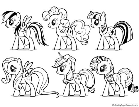 my pony friendship is magic coloring book pages my pony friendship is magic 03 coloring page