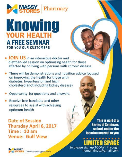 Health Seminar by Pharmacy Massy Stores