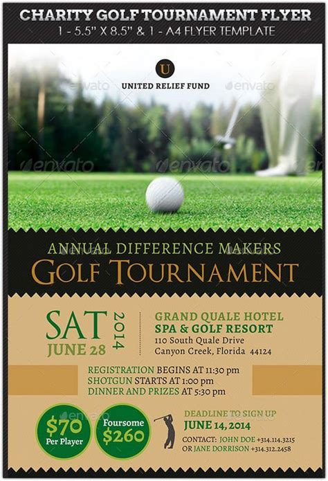 golf tournament flyer template charity golf tournament flyer hd 2 new hd template