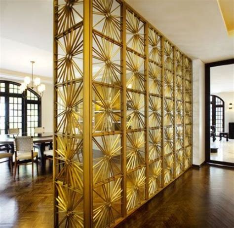 Gold Room Divider Organizing Your Space 42 Unique Room Dividers Digsdigs