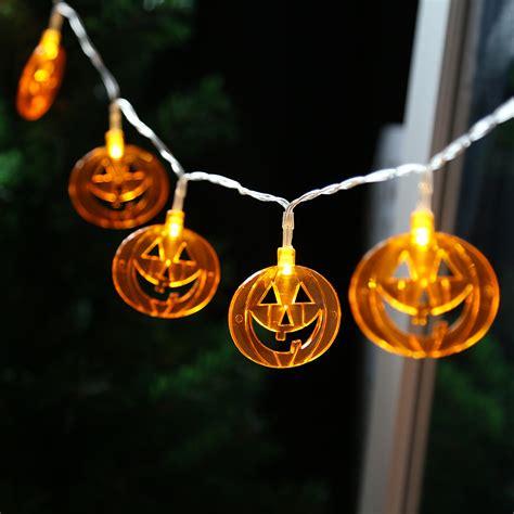 flat pumpkin 10 led lights string l
