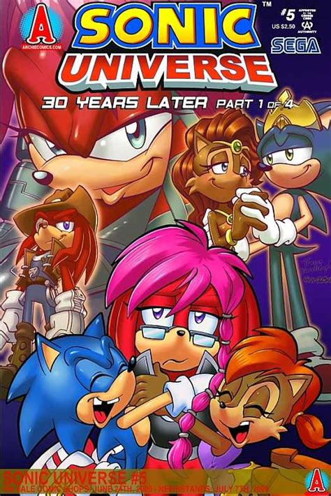 25 years later books sonic universe 5 30 years later part 1 of 4 issue