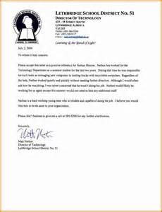 Sle Recommendation Letter For School by How To Write Recommendation Letter For Student Cover Letter Templates