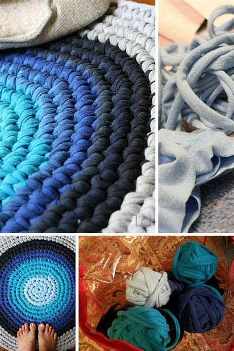 how to make rugs from clothes crochet t shirt rug