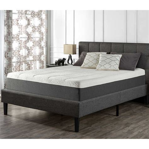blackstone full upholstered square stitched platform bed