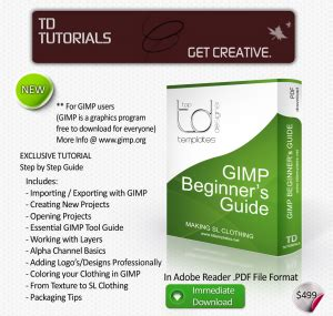 gimp tutorials beginners pdf td templates clothing templates for sl
